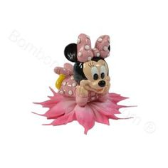Minnie Mouse figurine, two assorted designs with favour rosette and sweets, cute disney favour for a girl's birthday, baptism or christening. http://www.bombonierashop.com/en/department/148/Disney-Favours-and-Favour-Cakes.html