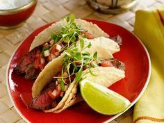 Carne Asada - would be good with my chipotle cream (mayo, sour cream, chipotles in adobo, garlic powder, black pepper, cilantro, and lime juice). Also might add lettuce or cabbage/slaw mix.