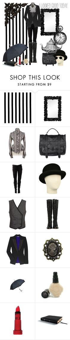 """""""My Uniform."""" by steampoweredgoth ❤ liked on Polyvore featuring Majestic, Proenza Schouler, Balmain, See by Chloé, Frye, Alexander McQueen, Cameo, Anna Sui and Smythson"""