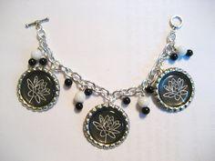 Bottlecap charm bracelet