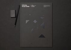 "Informe Anual Censors    Annual report of ""Col·legi de Censors Jurats de Comptes de Catalunya"" designed in 2010 and based on work from 2009. Each chapter is represented by an illustration of a tangram. Awarded in Laus 2011."