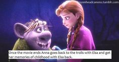 Anna and Elsa go back to the trolls to get Anna's childhood memories of ice fun with Elsa back.