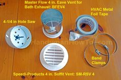 Bathroom Vent Fan 4 Inch Soffit Parts By Sdi Productaster Flow
