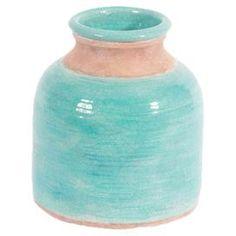 Caccia Vase in Aqua