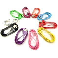 3 Foot Standard USB Cables - Assorted Colors