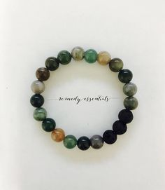 Fancy Jasper & Lava Stone bracelet. These bracelets are perfect for layering and are easily dressed up or down.
