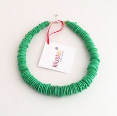 Green Necklace. Turquoise Necklace. Lime Green Necklace. Kelly Green Necklace. Spring Fashion. Sterling Silver. Chunky Beaded Necklace.. $48.00 USD, via Etsy.
