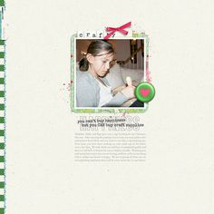 Materials used: 1. All Laid Out 07 by Dawn by Design 2. She\'s Crafty Journal Spots by Dawn by Design 3. She\'s Crafty Alpha by Dawn by Design 4. She\'s Crafty Stamps & Brushes by Dawn by Design 5. A New Chapter Elements by Anita Designs 6. A New Chapter Papers by Anita Designs