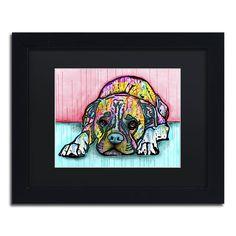 Dean Russo 'Lying Boxer' Matted Framed Art