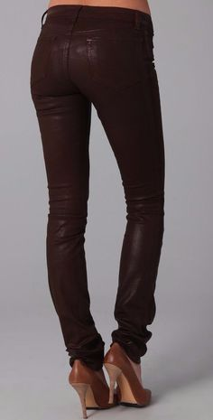 J Brand 912 Pencil Leg Jeans Treated Skinny Waxed Jeans Size 28  $ 250 #JBrand #SkinnyAnkle