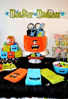 Hmmmm...definitely Monster Party for his first...he will definitely be in character! And even though he won't remember any of it, the other kids will LOVE it!