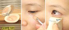 #oligodang #cosmetic #makeup #hair #K-beauty 올리고당 메이크업 에스쁘아 다크써클 컨실러 듀오 100 포슬린 다크써클커버하기