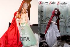 Maggie Norris Couture attends The Fairy Tale Fashion Exhibition Opening at The Museum at FIT Organized by associate curator Colleen Hill, Fairy Tale Fashion features more than 80 objects placed within dramatic, fantasy-like settings designed by architect Kim Ackert. Lady Joy Marks as Little Red Riding Hood  Victoria Marie as Alice in Wonderland Photography by Hunter Abrams/BFA.com Maquillage et les cheveux by Jerry Lopez