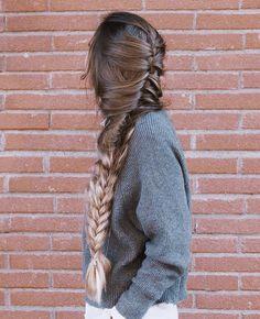 Beautiful braided long hair