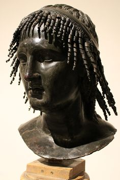 A remarkable first-century bust of Ptolemy Apion, the last Greek Cyrenaean King (died in 96 BC). Recovered from Pompeii.