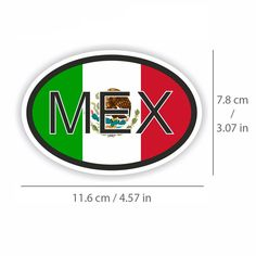 Mexico Country Flag Set of 7 Different Size Collection Decal Stickers New in Package
