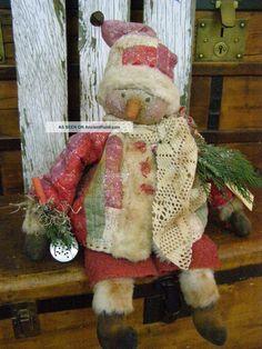 antique+doll+quilts   Primitive Snowman Doll Antique Quilt Folk Art Snowman Doll Old Wool ...