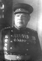 Colonel-General Pukhov Nikolai Pavlovich (25 Jan 1895 - 28 Mar 1958), Soviet military commander, Hero of the Soviet Union. Commanded 304th Rifle Division, 13th Army (Jan. 1942-1945) in WWII.