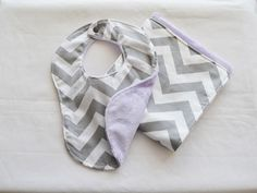 A personal favorite from my Etsy shop https://www.etsy.com/listing/180808784/chevron-bib-burp-cloth-gift-set