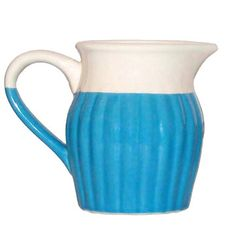 Pitcher With Handle Small Blue
