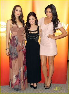 Troian Bellisario, Lucy Hale, & Shay Mitchell
