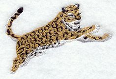 Leaping Leopard design (M1610) from www.Emblibrary.com