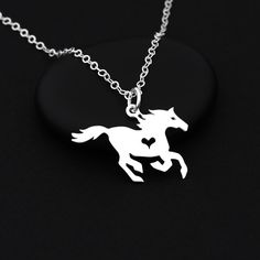 Horse Lover Necklace Sterling Silver Horse Necklace by BijouBright