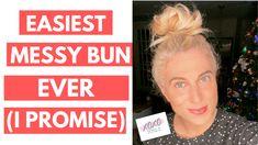 How to do a messy bun with thick hair Mess Bun Tutorial, Short Hair Updo Tutorial, Messy Bun For Short Hair, Easy Messy Bun, All Hairstyles, Messy Bun Hairstyles, Bun Tutorials, Great Hair, Textured Hair