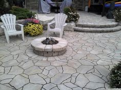 Marshmellows?  With spring looming firepits are on our minds.  www.stonebridgeinterlock.com Backyard, Patio, Landscape, Spring, Outdoor Decor, Beautiful, Yard, Yard, Scenery