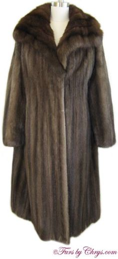 Lunaraine Mink and Sable Coat Size Range: 12 - 16 Misses or Tall, Price: SOLD, Excellent Condition Mink Coats, Mink Fur, Sable Coat, Shoulder Pads, Well Dressed, Neiman Marcus, Pure Products, Range, Sleeves