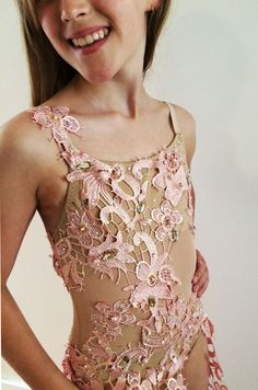 pretty flesh and pink lace. Pink Lace, Dance Costumes, Dance Wear, Australia, Contemporary, Tank Tops, Crochet, Pretty, Fabric