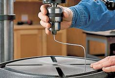 Line up your drill press for perfectly drilled holes.