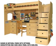 Diy Loft Bed Plans With A Desk Under Related Post From