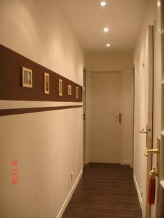 Peinture d 39 un couloir troit et assez long couloirs - Quelle couleur de peinture pour un couloir ...