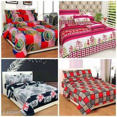 Bedsheets Fashionable Polycotton Double Bedsheets Combo (Pack Of 4) Fabric: Polycotton No. Of Pillow Covers: 2 Thread Count: 160 Multipack: Pack Of 4 Sizes: Queen (Length Size: 100 in Width Size: 90 in Pillow Length Size: 27 in Pillow Width Size: 17 in) Country of Origin: India Sizes Available: Queen   Catalog Rating: ★4.1 (14587)  Catalog Name: Trendy Polycotton 90x90 Double Bedsheets Vol 13 CatalogID_583559 C53-SC1101 Code: 738-4103661-7212