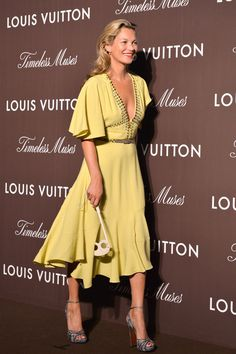 Kate Moss in Louis Vuitton - Louis Vuitton Timeless Muses exhibition opening, Tokyo