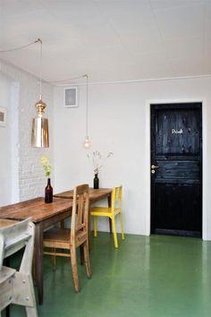 Restaurant Visit: Mikkeller Bar in Copenhagen - Remodelista Home Design, Interior Design, Design Design, Turbulence Deco, Epoxy Floor, Floor Colors, Painted Floors, Painted Wood, Restaurant Bar