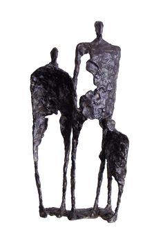 Drie generaties 1999 Sculpture Metal, Pottery Sculpture, Abstract Sculpture, Ceramic Pottery, Ceramic Art, Metal Art, Wood Art, Henry Moore Sculptures, Ceramic Figures