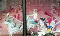Quirky floral design at Harvey Nichols boutique