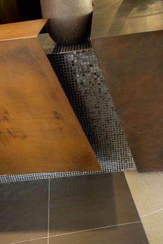 Red's Hotel materials: burnished cooper, corten steel, by Monica Besseghini with altrostudio Steven Mufatti