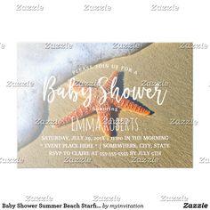 Baby Shower Summer Beach Starfish