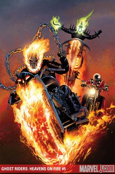 Ghost Riders: Heavens on Fire Cover: Ghost Rider Marvel Comics Poster - 30 x 46 cm Comic Book Characters, Marvel Characters, Comic Character, Comic Books Art, Comic Art, Marvel Comics, Hq Marvel, Marvel Heroes, Ghost Rider Johnny Blaze