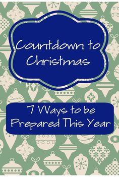 Countdown to Christmas! It will be here before you know, so here are some little tips to plan ahead.