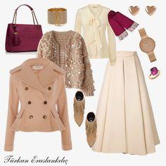 Türkan Eraslankılıç: Stil Doğru Kombin Demektir Modern Hijab Fashion, Modern Outfits, Muslim Fashion, Classy Outfits, Modest Fashion, Chic Outfits, Pretty Outfits, Fashion Outfits, Womens Fashion
