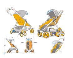 Moonbuggy :All terrain Stroller on Behance