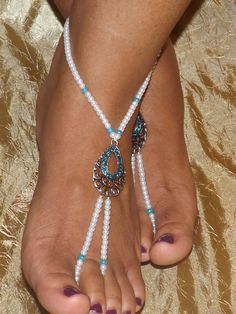 Handmade Barefoot Sandals on ETSY...like the beach colors in this piece.