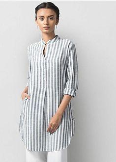 - n fancy Tops Short Kurti Designs, Kurta Designs Women, Hijab Fashion, Fashion Dresses, Tunic Designs, Fancy Tops, Dress Sewing Patterns, Kurta Patterns, Linen Dresses