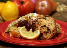 Greek Chicken and Salad on http://www.homesweetjones.com