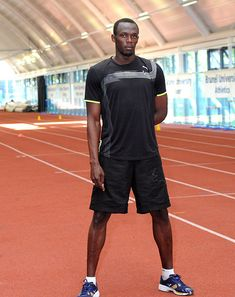 How fast can Usain Bolt run...9.76 in Rome. 9.50 in London Olympics!