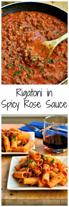 Rigatoni in Spicy Rose Sauce is an easy 30-minute meal! Italian sausage, garlic, tomato sauce and cream all give this dish amazing flavor!